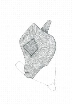 Étude spontanée#3_crayon graphite sur papier pointillé_5cm X 21cm_2015