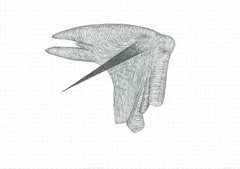 Étude spontanée#10_crayon graphite sur papier pointillé_5cm X 21cm_2015