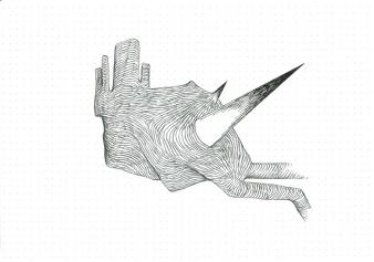 Étude spontanée#12_crayon graphite sur papier pointillé_15cm X 21cm_2015