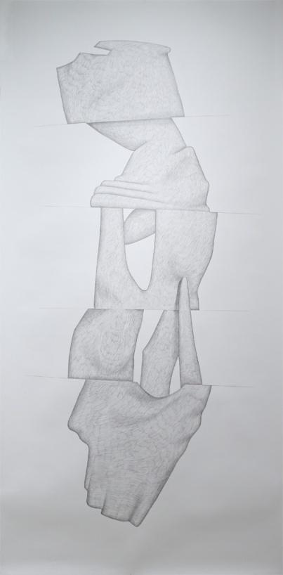 Polymorphe_crayon graphite sur papier_5 X 10 feet_2014-3m X 1,5m