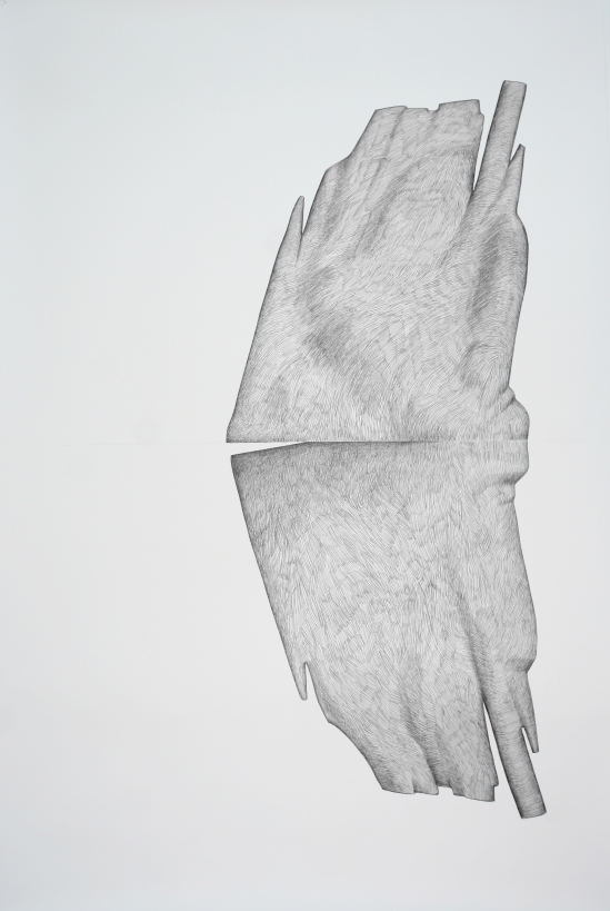 Sans Titre#2_crayon graphite sur papier_5 X 4 feet_2014-1,5m X 1,2m