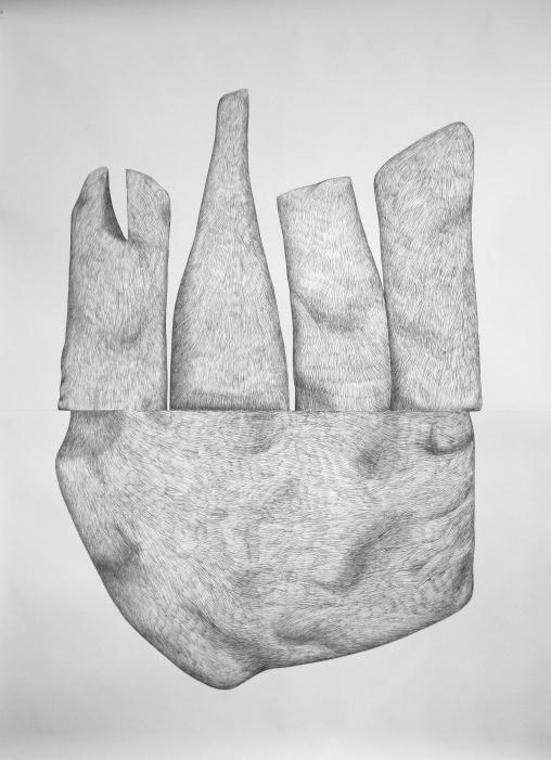 Sans-Titre#3_crayon graphite sur papier_5 X 6 feet_2014-2m X 1,5m